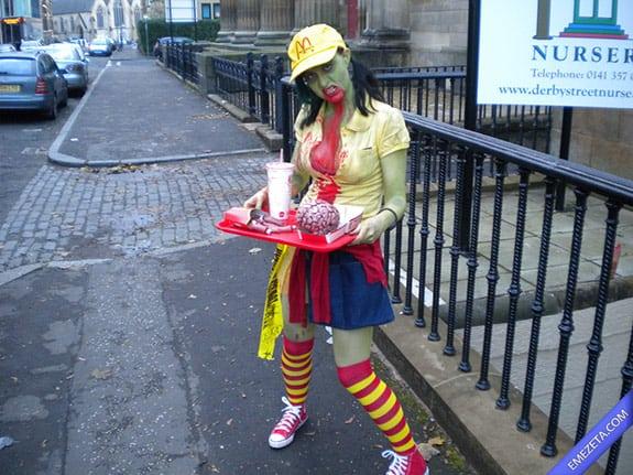 Disfraces de Halloween: Mcdonalds zombie