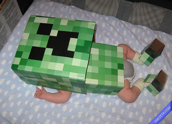 Disfraces de Halloween: Minecraft baby