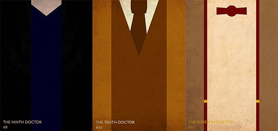 Doctor Who: Minimalist Doctors Clothes