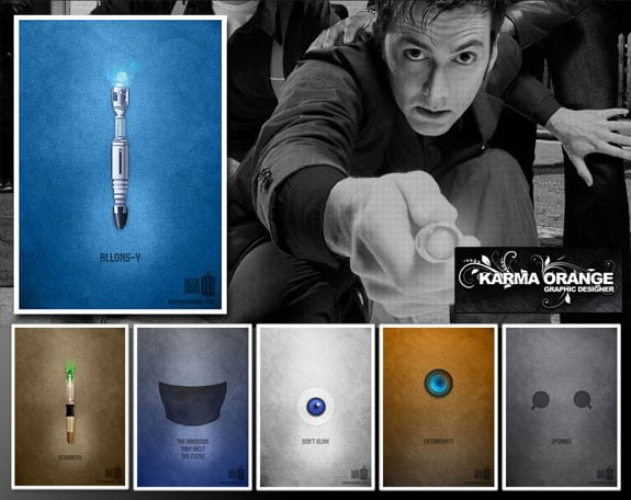 Doctor Who: Posters minimalistas de KarmaOrange