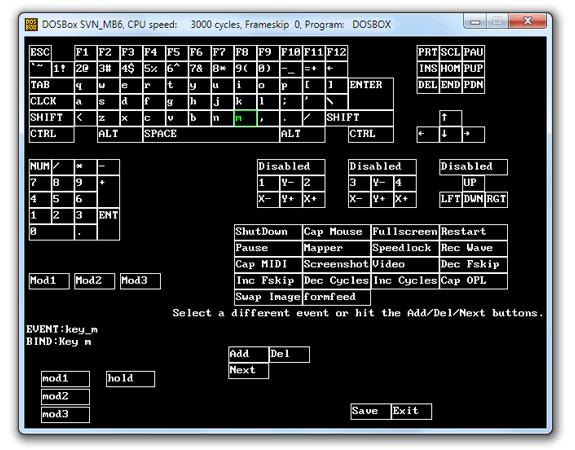 Mapeado de teclado en DOSBox (Keymapper)