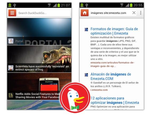 Duck Duck Go en Android