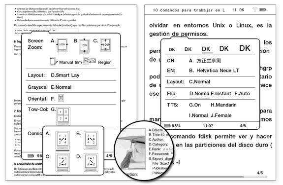 Opciones PDF del sistema operativo alternativo para Kindle, Duokan