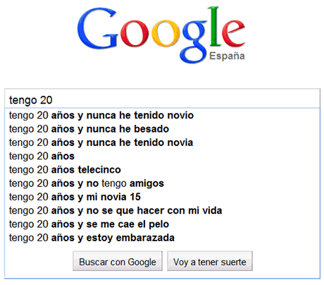 preocupaciones edades google 20 años