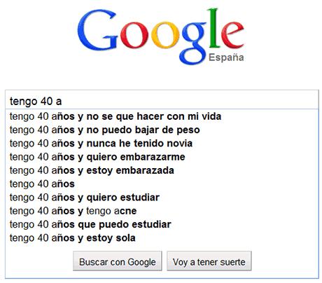 preocupaciones edades google 40 años