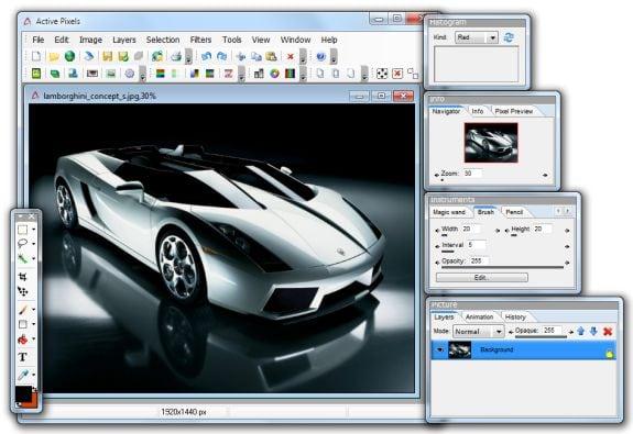 Editores gráficos gratis: Active Pixels