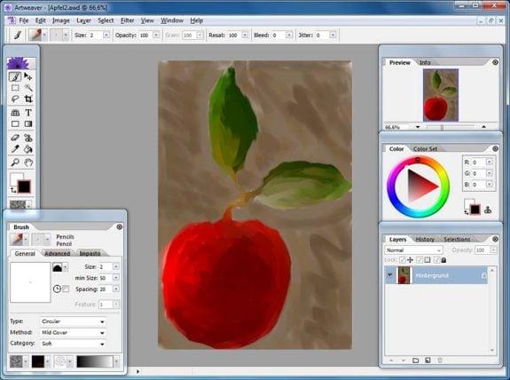 Editores gráficos gratis: Artweaver Free