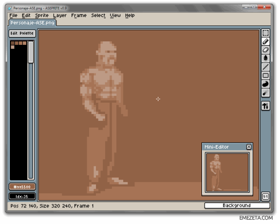 Editores gráficos gratis: Allegro Sprite Editor (Aseprite)