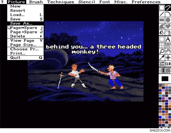 Editores gráficos gratis: Deluxe Paint II (DP2)