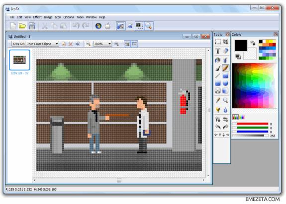 Programas para hacer pixel art: Icofx