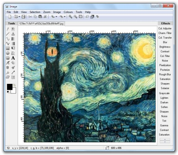 Editores gráficos gratis: HD1988 Labs Image