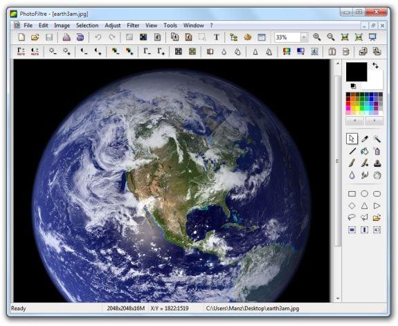 Editores gráficos gratis: PhotoFiltre