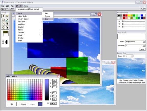 Editores gráficos gratis: Photormin