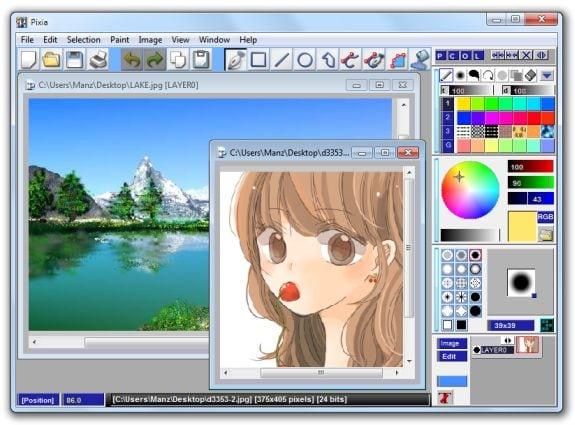 Editores gráficos gratis: Pixia