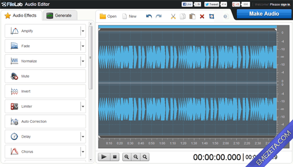Editores de sonido gratis: FileLab Audio Editor