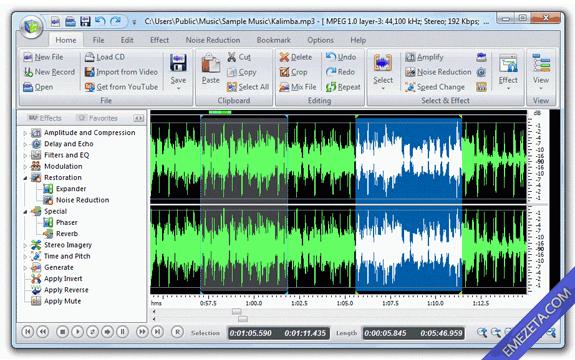 Editores de sonido gratis: Power Sound Editor