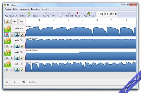 Editores de sonido gratis: Jokosher