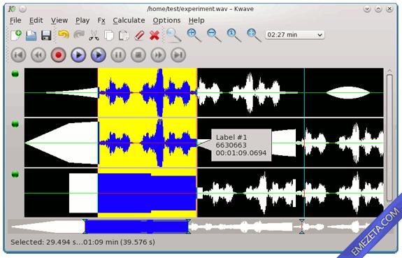 Editores de sonido gratis: KWave