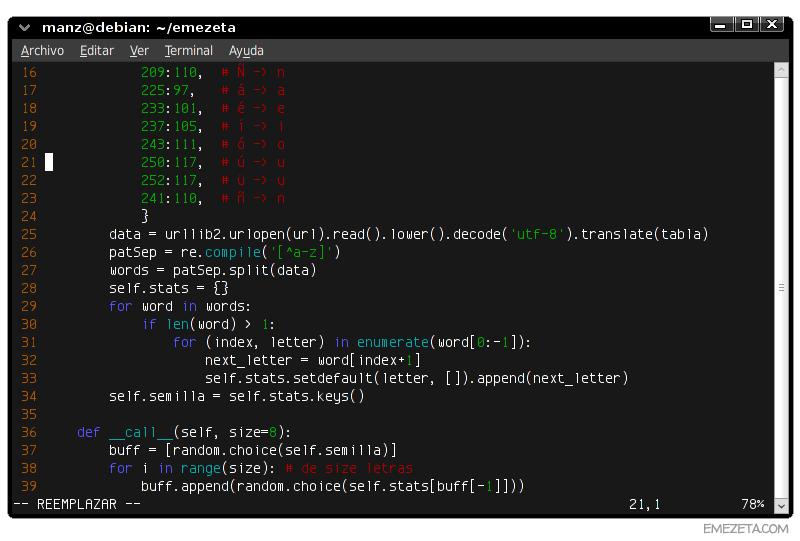 Editores de texto basados en terminal: Vim (VI Improved)