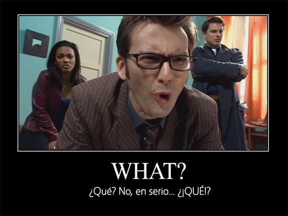 What? Doctor Who (David Tennant), Marta Jones y Capitán Jack