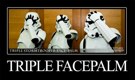 Stormtrooper Triple Facepalm