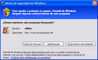emule firewall windows xp