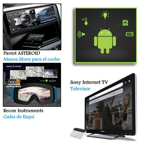 Entendiendo Android: Dispositivos Android (Tablets, TV, Parrots, Gafas de esquí...)