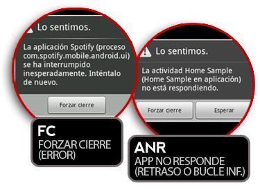 Entendiendo Android: Tipos de errores (FC y ANR)