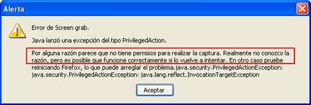 error screengrab