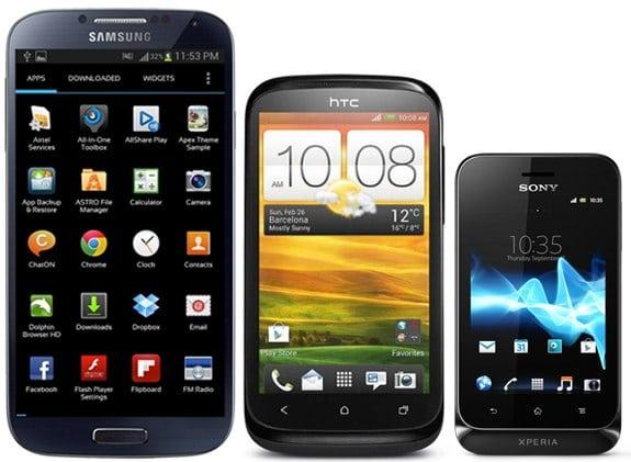 Android: Gama alta, gama media y gama baja. Dispositivos para todos los públicos.