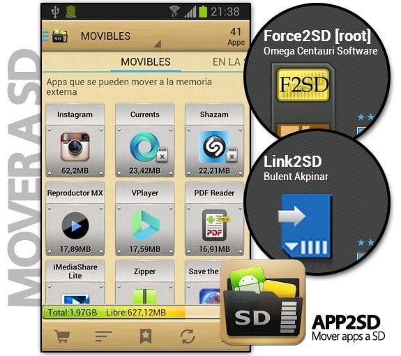 App2SD: Mueve aplicaciones de Android a la tarjeta SD