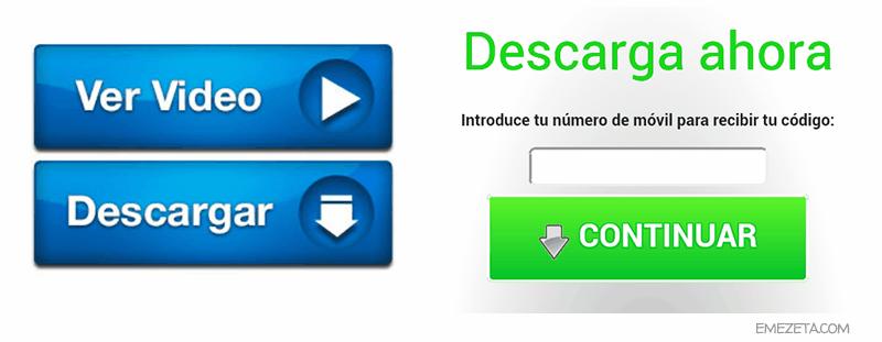 Publicidad engañosa: Botones de descarga o Ver video