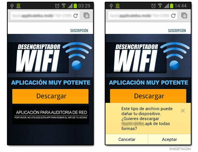 Publicidad engañosa: Desencriptador WiFi