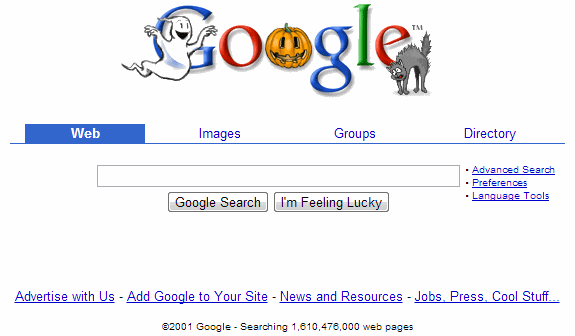 La evolución de Google: Google 2001