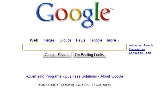 La evolución de Google: Google 2004
