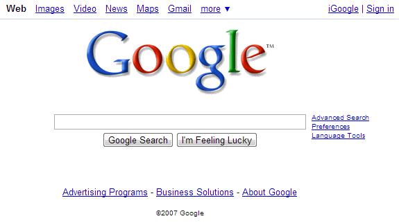 La evolución de Google: Google 2007