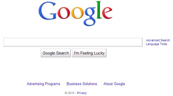 La evolución de Google: Google 2010