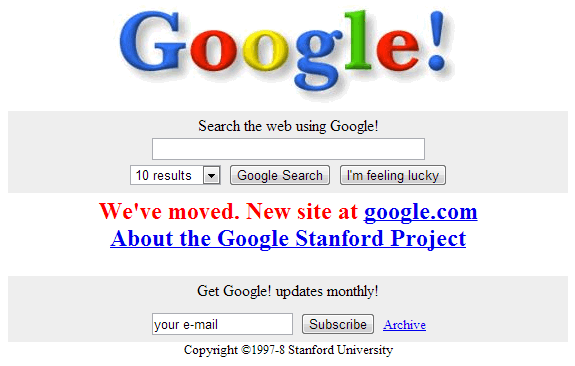 La evolución de Google: Google Stanford Project