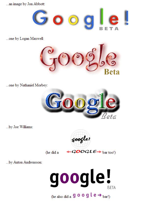 La evolución de Google: Google stickers 1999 4