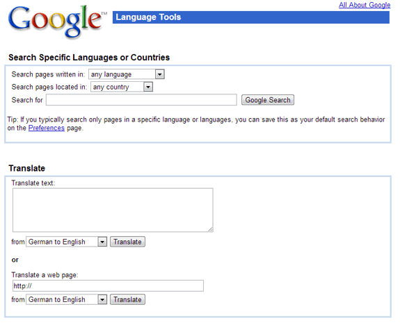 La evolución de Google: Google Translate 2003