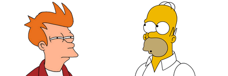 excusas fry homer simpson