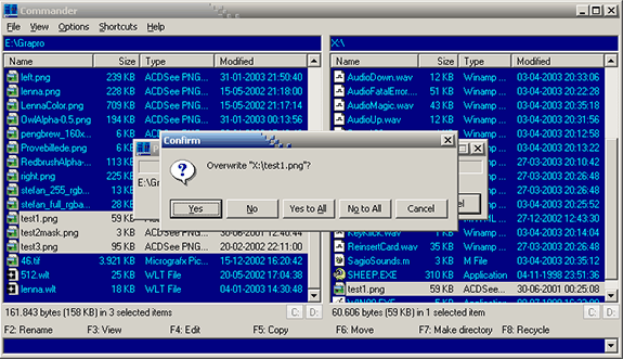 Alternativas al Explorer (Explorador de Windows): Commander