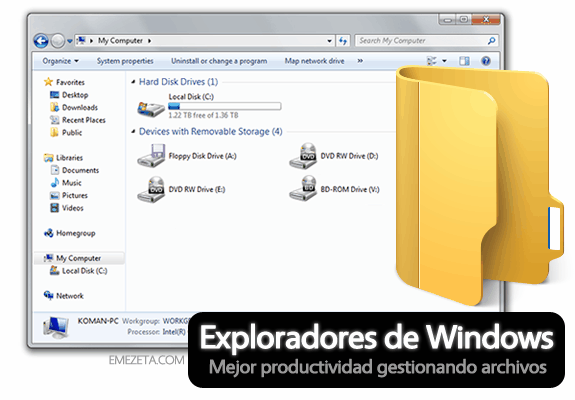 Alternativas al Explorer de Windows (Explorador de Windows)