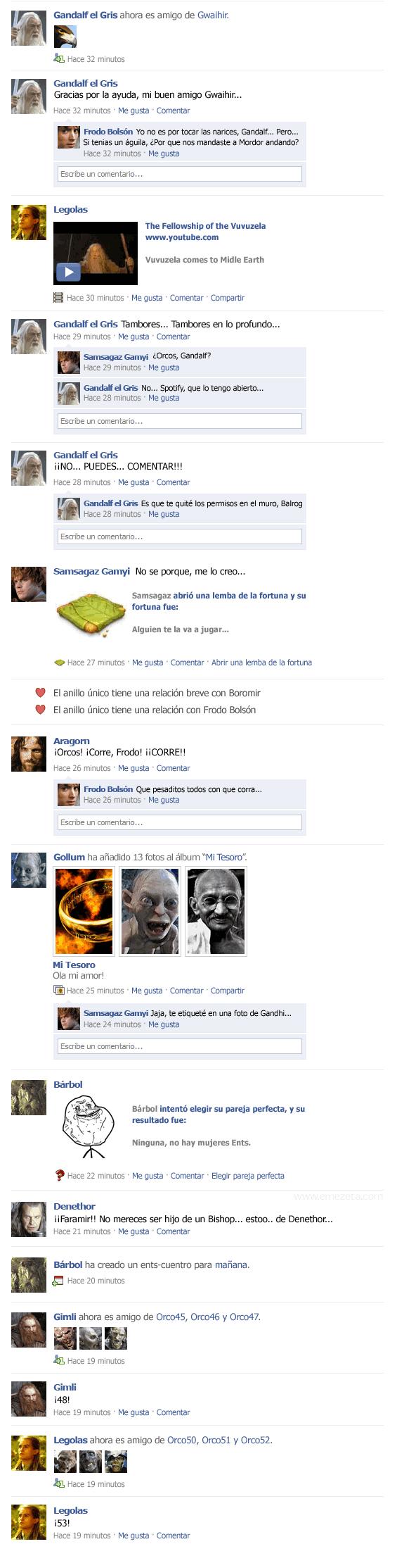 El Facebook del Señor de los Anillos: parte 2