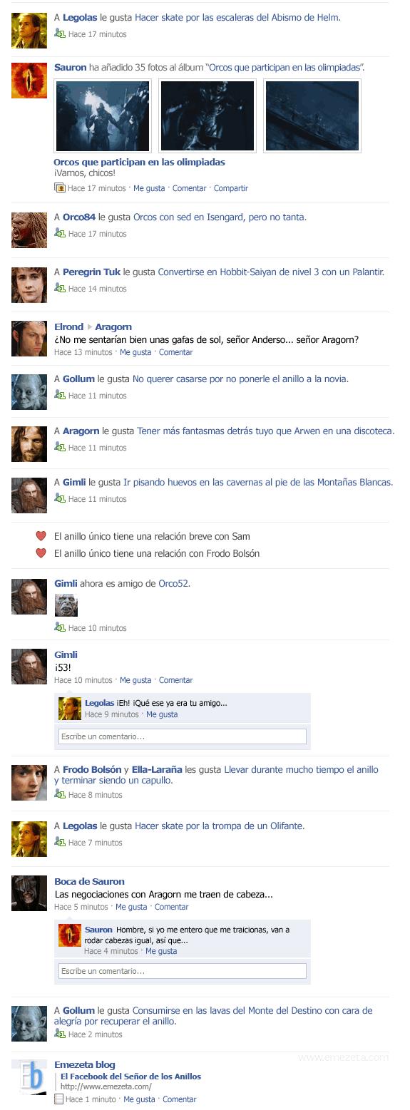 El Facebook del Señor de los Anillos: parte 3