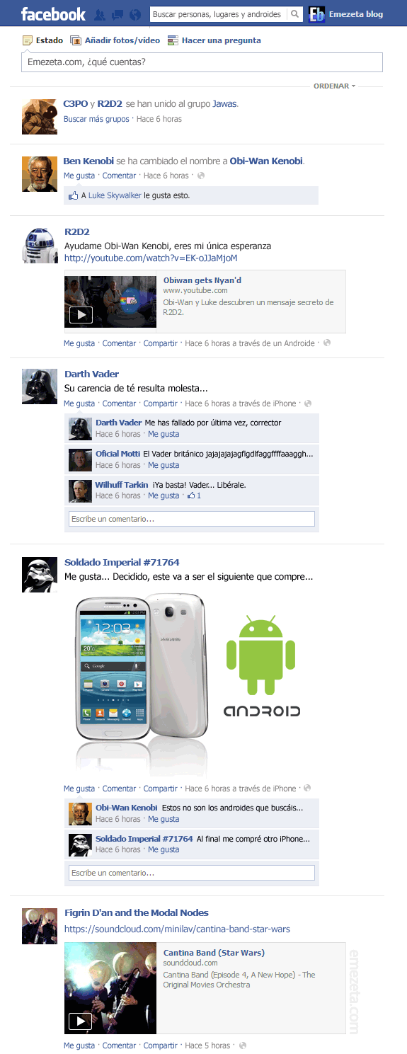 El Facebook de Star Wars: Episodio IV (1)