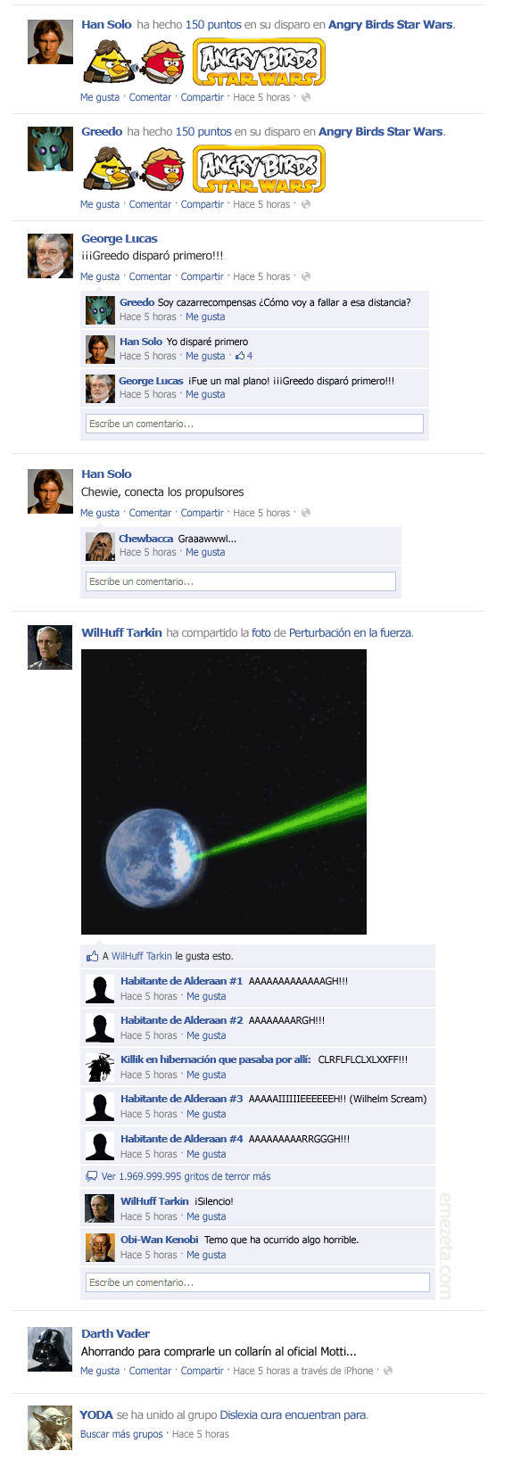 El Facebook de Star Wars: Episodio IV (2)