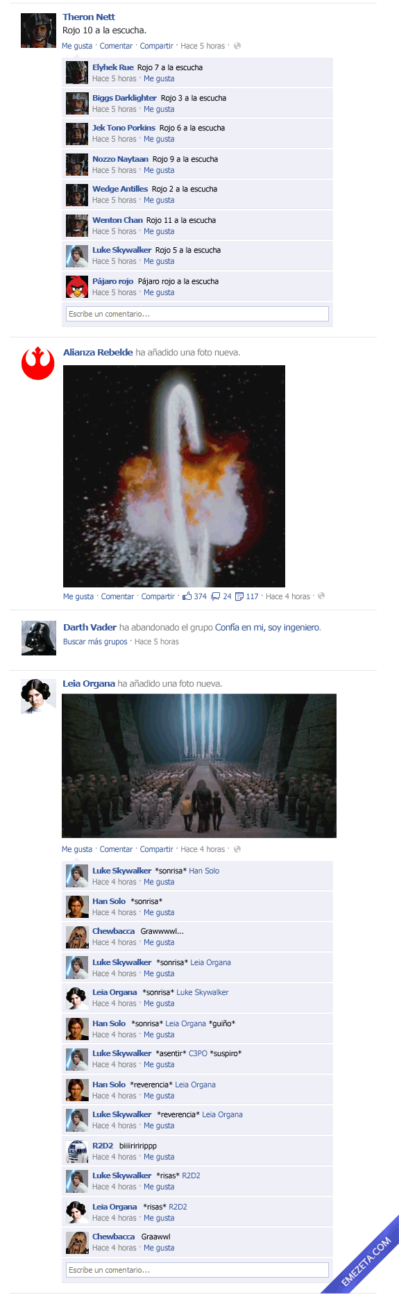El Facebook de Star Wars: Episodio IV (3)