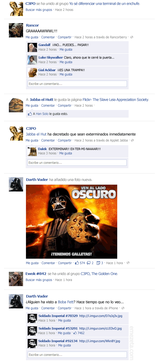 El Facebook de Star Wars: Episodio VI (1)