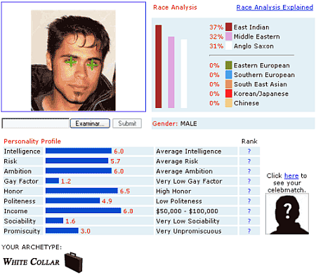 Resultado face analyzer